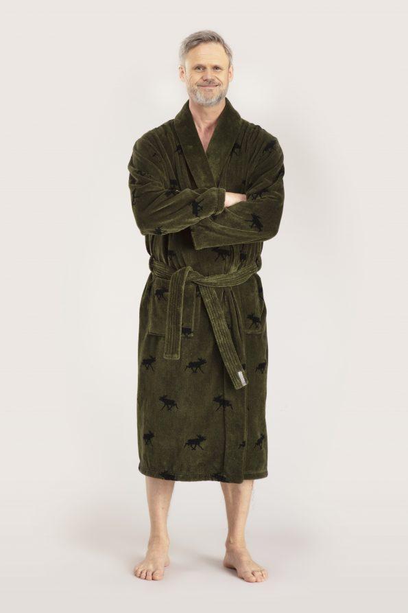 Glösa bathrobe green gents